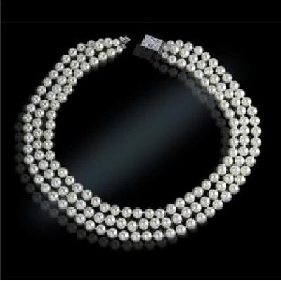 The Jackie Kennedy Classic Triple Strand Pearl Necklace