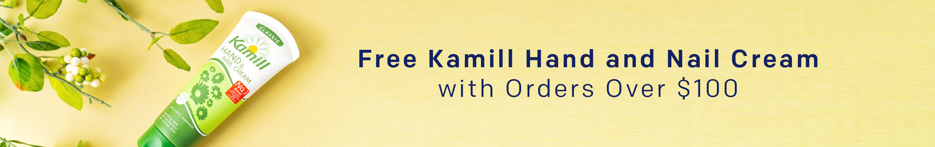 Free Kamill Hand and Nail Cream with Orders Over $100