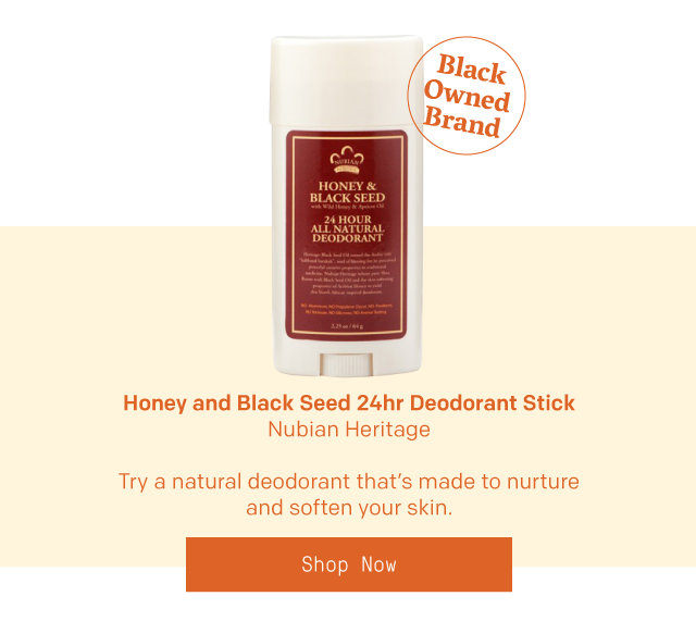 Honey and Black Seed Deodorant Stick by Nubian Heritage